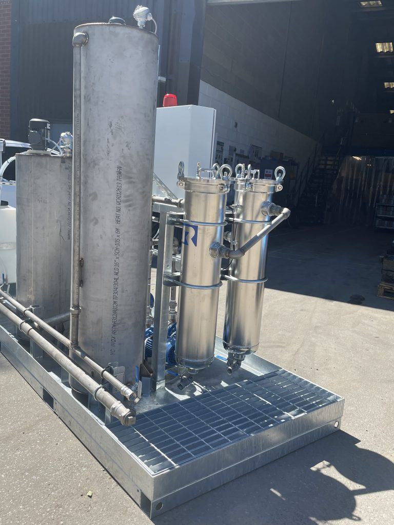 Effluent treatment system filtration rosedale product europe left